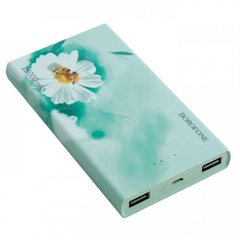 Power Bank Borofone BT1 13000 mAh (с цветами) green
