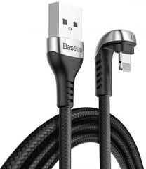 USB кабель Baseus Green U-Shaped Lamp Mobile Game Cable Lightning 2.4A 1m CALUX-A01 black
