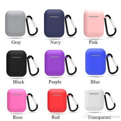 Чохол Silicon Case AirPods color + карабін