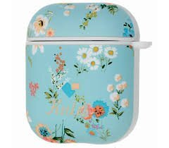 Чохол for AirPods Kutis Case blue/pink flowers