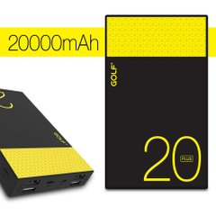 Power Bank GOLF Hive20GB Plus 20000 mAh black-yellow