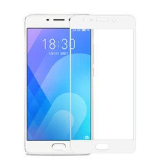 Захисне 2.5D скло Люкс Full Glue для Meizu M6 Note Black/white 0.3mm