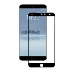 Захисне 2.5D скло Glass для Meizu 15 Lite Black 0.3mm